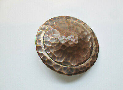 Scarce 'THE GUILD BUTTON' English Arts & Crafts HAMMERED COPPER  c. 1890 -1900