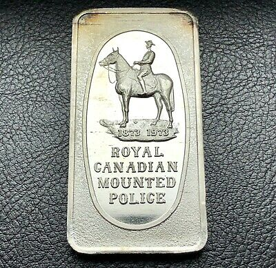 Royal Canadian Mounted Police 1 oz .999 Silver Art Bar Only 6,000 Minted (9322)