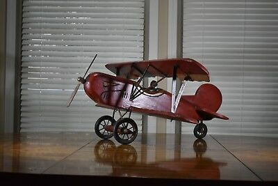 Handcrafted wooden old airplane vintage decorative Asian antique collectible