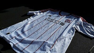 White LIVERPOOL FC 2010 2011 Away Football Shirt Jersey - UK Size extra large xl