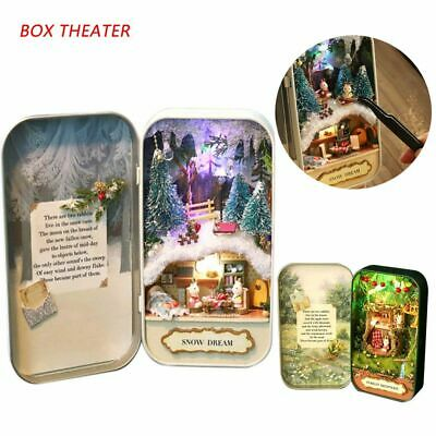 Gift Forest Rhapsody Miniature Furniture 3D Doll House Box Theater Snow Dream