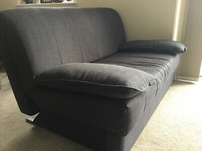 2 Willow Hall Sofa Beds Dark Gray Double Bed
