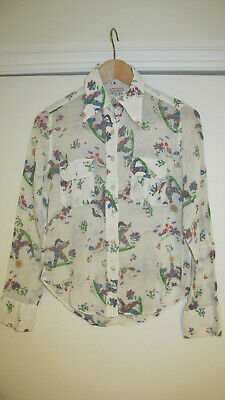 A White Vintage Blouse Decorated with Clowns for a Child (1960's)