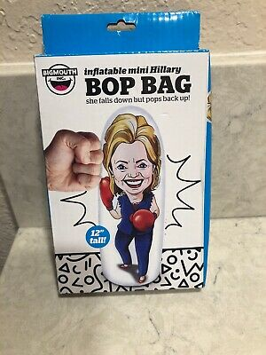 "Big Mouth Inflatable Hillary Clinton Mini Punching Bag Bop Bag 12"" A10"