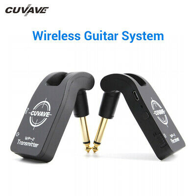 Cuvave UHF Wireless Guitar System Transmitter Receiver 50M Range 280° Rotatable