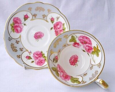 Foley China Roses Cabinet Tea Cup & Saucer Paragon Aynsley Interest