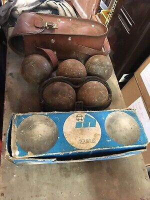 Lot 8 Boules Petanques Vintage,2 MATCH 625 + 3 JB 725 0975 + 3? VINTAGE
