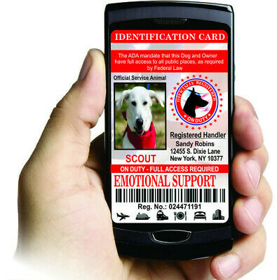 Emotional Support Dog Electronic ID Badge (Electronic Version)