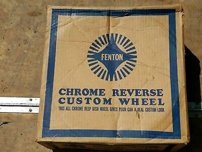 "Nos Fenton Chrome Reverse Wheel 14"" × 5.5"" Chevrolet GM  Pontiac Olds Buick"