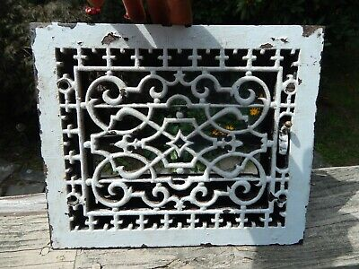 Antique Cast Iron Floor Register~Heat Vent~Grate With Working Damper