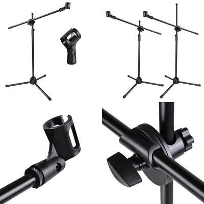 Adjustable Microphone Stand Boom Arm Mic Mount Quarter-Turn Clutch Tripod Holder
