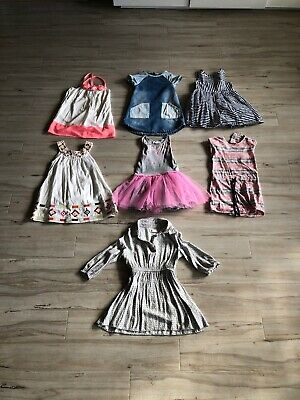 Toddler Girls Size 4 Pumpkin Patch Zara Next Dress Milkshake Bundle 7 Items