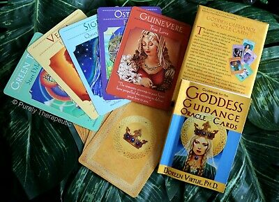 GODDESS GUIDANCE ORACLE CARDS BY DOREEN VIRTUE With Guidebook Boxed Sealed New