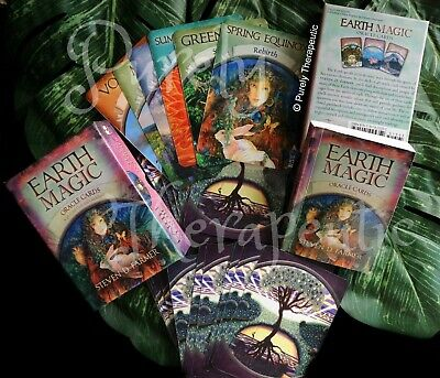 EARTH MAGIC ORACLE CARDS STEVEN D. FARMER With Guidebook Boxed Sealed Tarot Deck