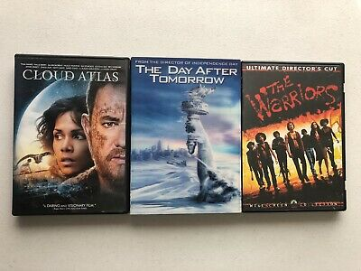 POST APOCALYPTIC DVD LOT Cloud Atlas, The Warriors, The Day After Tomorrow