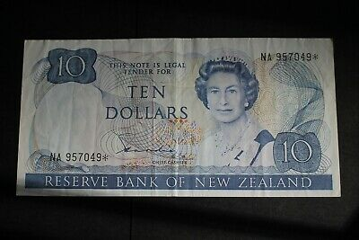1981/85 NEW ZEALAND $10 STAR NOTE > Fine