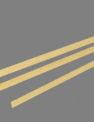 "Brass Flat Stock .032"" x 1/2"" x 1'  (3 - 12"" Lengths)  260 Solid Rectangle Strip"