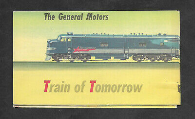 1947 GENERAL MOTORS TRAIN  Of TOMORROW EMD 1st All Dome Cars PULLMAN Brochure VG