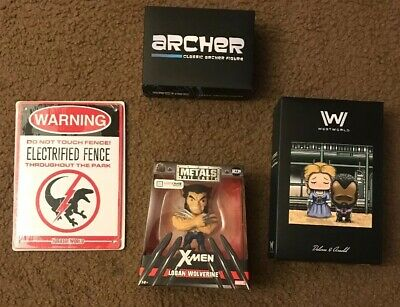 Lot Of Lootcrate Items Wolverine Westworld Archer
