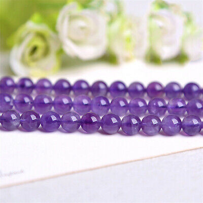 Natural Amethyst Loose Beads Making Jewelry 15 inches Diy Healing Charm Stone