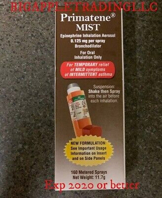 Primatene Mist inhalation Aerosol asthma relief 160 Metered Sprays Exp March2020