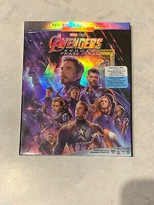 Avengers 4 Endgame 2 Disc Blu-Ray Set w Slipcover Canada Bilingual NO DC LOOK