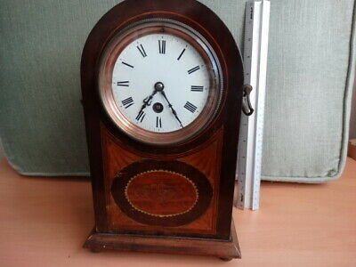 L. Brocot late 1800 mantel clock with handles and Sea Shell Marquetry