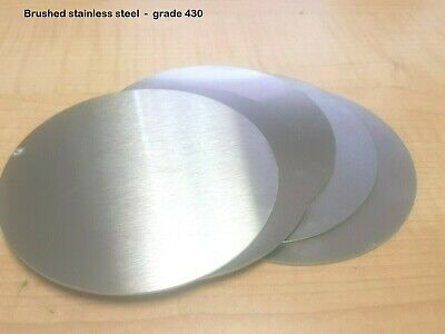 BRUSHED STAINLESS STEEL DISCS  -  0.9mm & 1.5mm thick  -  many diameters