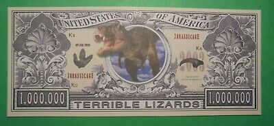 Usa Novelty 1,000,000 Note Terrible Lizards.