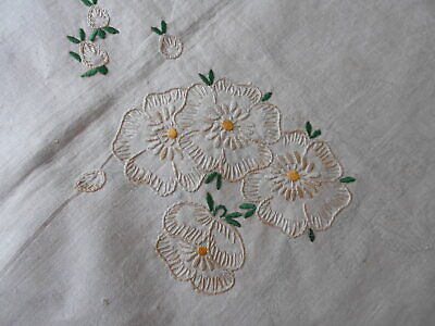 Vintage  Linen Tablecloth To Finish Embroidery