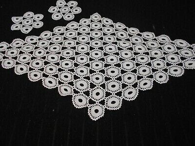 Rare Stunning Vintage White Crochet Lace Table Centre + 2 Matching Doilies