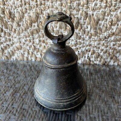 5 Inch High Old Tibet Buddhism Temple Bronze Himalayan Bell