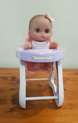 Berenguer Lil' Cutie's Big Eyed Baby Doll in Original Outfit & High Chair in G/C
