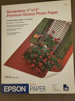 Epson Premium Photo Paper 68 lbs. High-Gloss 11 x 14 20 Sheets/Pack S041466