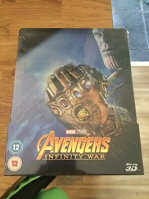 Avengers Infinity War Limited Edition 3D Blu Ray Steelbook(New/Sealed)