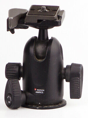 manfrotto 498RC2 Ball Head With QUICK-RELEASE PLATE - EXCELLENT
