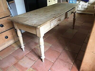 Antique  Victorian Pine Kitchen Table