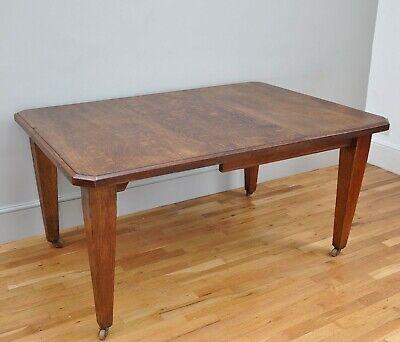 Antique Oak Victorian Extending Dining Table