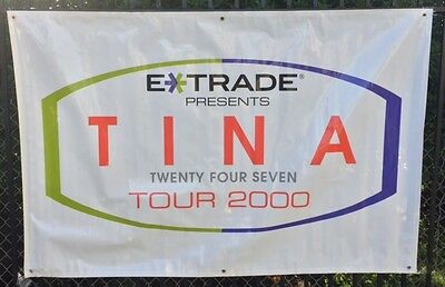 Tina Turner Concert Banner 2000 Twenty Four Seven Tour - ORIGINAL & UNUSED