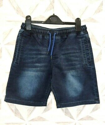 Next 82 - Boys Blue Elasticated / Tie Waist Shorts Age 12 Years - E32