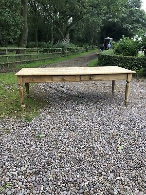 Antique Victorian Pine Baking Table
