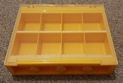 Old Style Small Lego Minifigures Display Case Yellow
