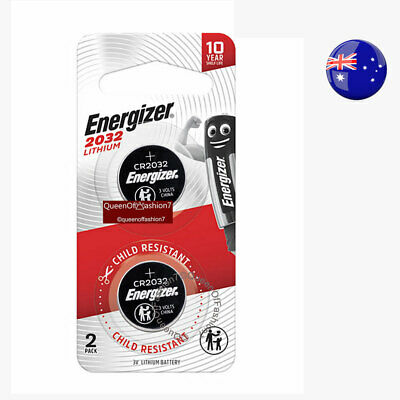4 X  Genuine Energizer CR2032 QueenOf7 New Child-Resistant Battery 3V Button