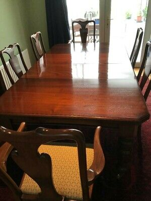 Victorian Mahogany dining table and chairs