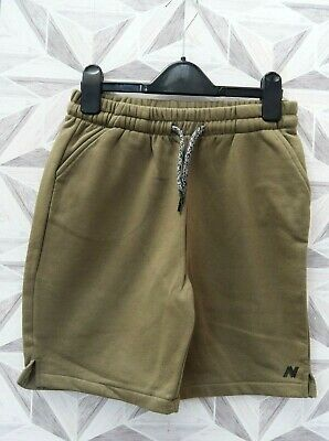 Next Boys Khaki Elasticated / Tie Waist Shorts Age 12 Years - A12