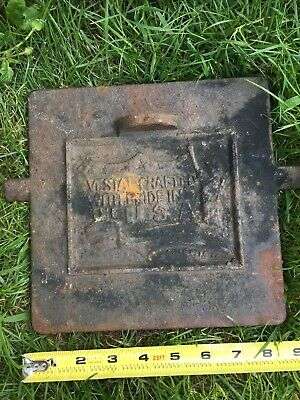 Antique Vintage Cast Iron Stove Door  Vistal Crafted In The USA B