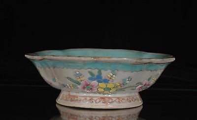Antique Chinese Multicolored Porcelain Bowl, Qing Dynasty, 19th c