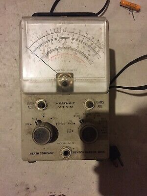 Heathkit VTVM Model IM-18 EICO UNI PROBE Vacuum tube Volt meter Heath Mercer
