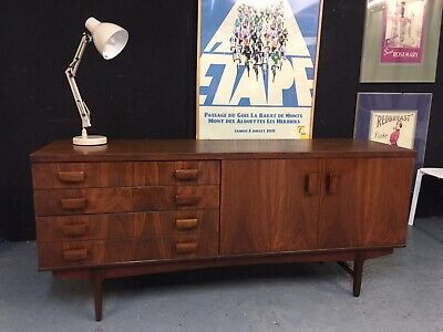 Rare Bath Cabinet Makers Rosewood Vintage Retro Danish Sideboard Credenza M3295