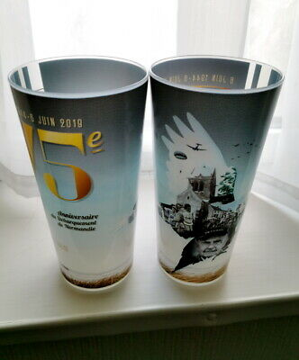 D-DAY 75th Anniversary Official 50cl plastic beaker cup From Sainte Mere Eglise